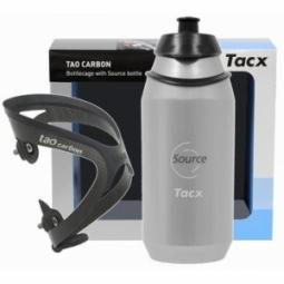 TACX Porte Bidon TAO Carbon Noir + bidon Source