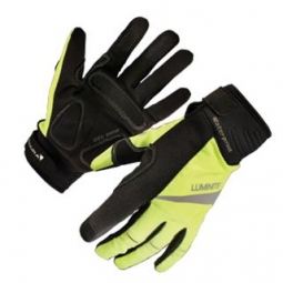 endura paire de gants luminite noir jaune fluo l