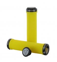 sb3 paire de grips kheops lock on jaune noir