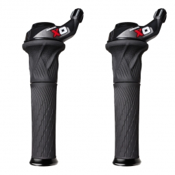 sram paire de grip shift x0 2 x 10v rouge