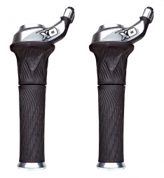 SRAM X0 3x10sp Grip Shift Shifter Set - Silver