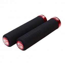 SRAM Paire de Grips Mousse Lock-On Noir / Rouge