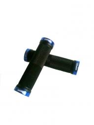 SB3 Paire de Grips KHEOPS Noir/ Bleu anodisé