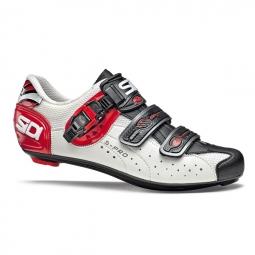 Chaussures Route Sidi GENIUS 5 FIT Blanc Rouge Noir