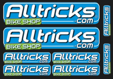 ALLTRICKS Planche de 8 Stickers TEAM