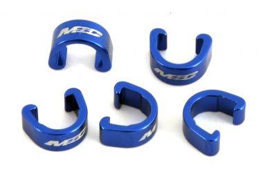 msc clips durites de freins alu x5 pieces bleu