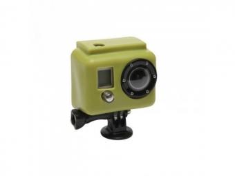 xsories etui de protection silicon vert pour camera gopro hero et hero2