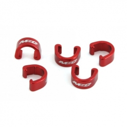 msc clips durites de freins alu x5 pieces rouge