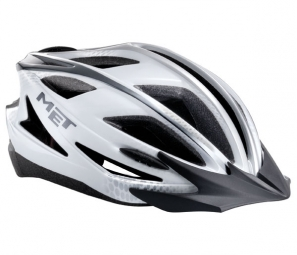 2013 MET helmet Pilgrim White / Silver