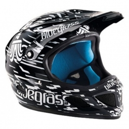 Casco integral Bluegrass Brave Blast Negro Blanco