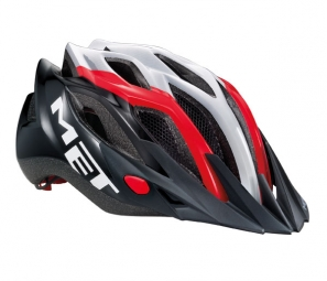 Casque Met Crossover 2014 Rouge/Blanc