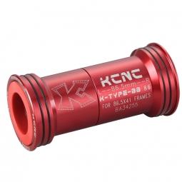 kcnc adaptateur boite de pedalier route bb86 rouge