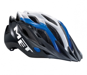 MET 2013 CROSSOVER Helmet Blue / White / Black