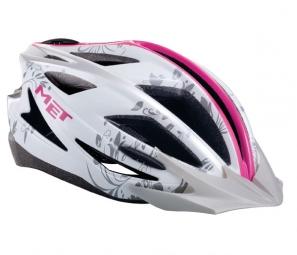MET 2013 Helmet White / Pink PILGRIM