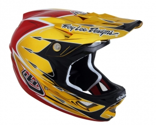Casco integral Troy Lee Designs D3 COMPO PALMER Dorado Rojo