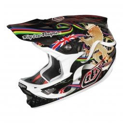 Casco integral Troy Lee Designs D3 CARBON Edición Steeve Peat Blanco