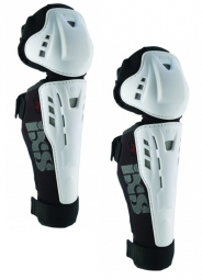 ixs genouilleres avec protege tibia hammer series blanc m