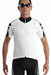 assos maillot manches courtes uno s7 blanc panther m