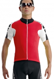 assos maillot manches courtes uno s7 rouge m