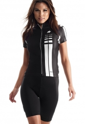 assos maillot manches courtes ss lady noir volkanga l