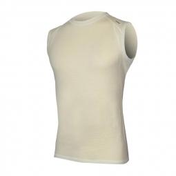 ENDURA Tshirt Sans manches BASELAYER BaaBaa Merino Blanc