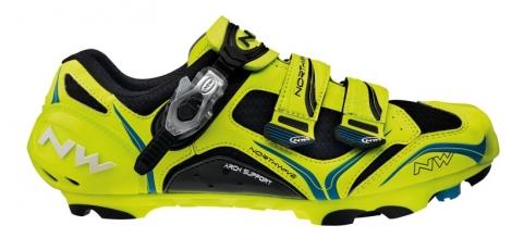 Chaussures VTT Northwave Striker Carbon 5 2013 Fluo Noir Bleu
