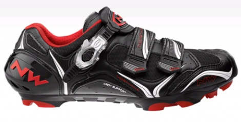 Chaussures VTT Northwave Striker Carbon 5 2013 Noir Rouge