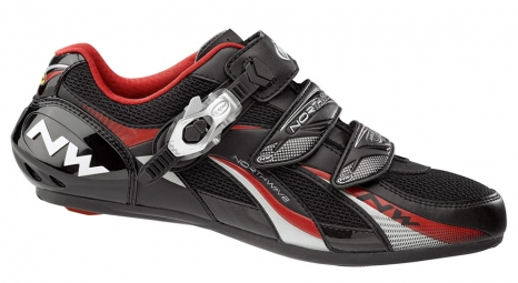 Chaussures Route Northwave FIGHTER SBS 2013 Noir Rouge
