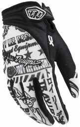 TROY LEE DESIGNS Paire de Gants XC Noir Blanc