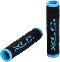 Xlc paire de grips kraton noir bleu