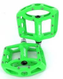 Sb3 paire de pedales unicolor vert