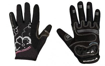 ENDURA Paire de gants Femmes SINGLETRACK Noir Rose