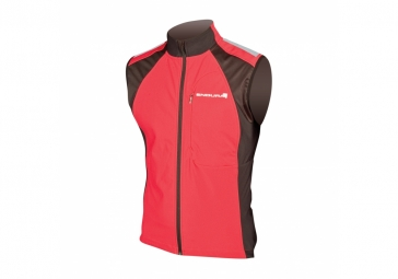 endura veste coupe vent sans manches windchill ii rouge xl
