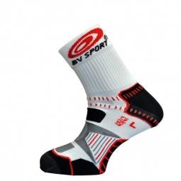 Bv sport paire de chaussettes bikesocks noir blanc rouge 36 38