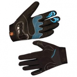 Pair of Gloves ENDURA Singletrack Black Blue