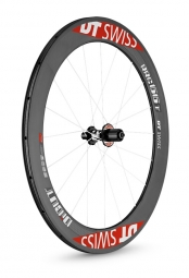 dt swiss roue arriere carbone rrc di cut 66mm a pneu corps shimano sram
