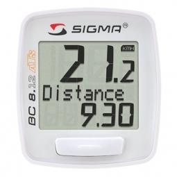 SIGMA Compteur BC 8.12 ATS Sans fil Blanc