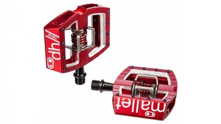 crankbrothers paire de pedales mallet dh race rouge