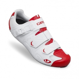 Chaussures Route Giro Shoes TRANS Blanc Rouge