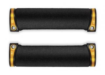 crankbrothers paire de grips lock on cobalt noir or