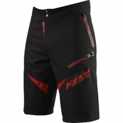 FOX Short DEMO Freeride Noir / Rouge