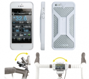 TOPEAK Support Coque RIDECASE II pour Iphone 4&4S Blanc
