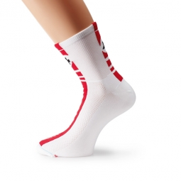 assos paire de chaussettes summersocks mille regular rouge 34 36
