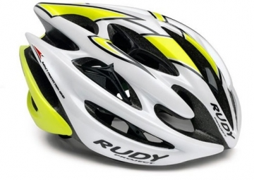 Casque Rudy Project STERLING Blanc Jaune Fluo