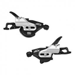 SHIMANO Paire de Shifter SLX M670 I-spec A 2 et 3 x 10V Fixation Directe Noir