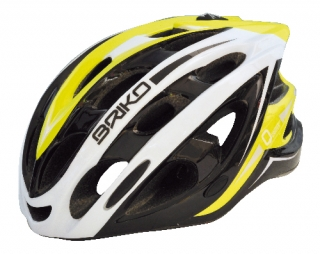 BRIKO QUARTER Helmet Black White Neon Yellow
