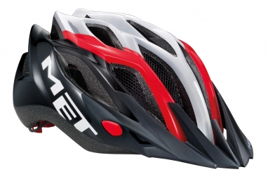 Casque Met Crossover 2014 Blanc Rouge