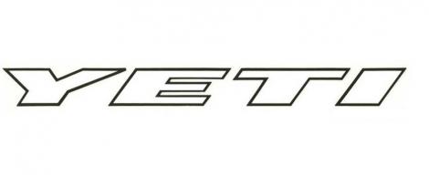 YETI Sticker LARGE 800mm Noir/Blanc