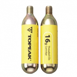 TOPEAK 2 cartouches de C02 CARTRIDGE 16G