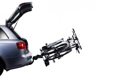 THULE Porte-Vélo pour boule d'attelage EUROWAY G2 923 pour 3 vélos prise 7 broches